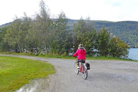 Radfahrer am Weg nach Bozen