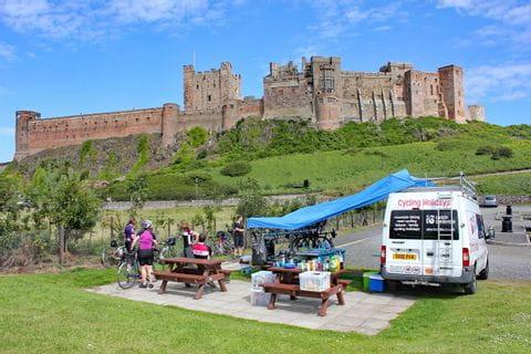 Blick auf ein schottisches Schloss