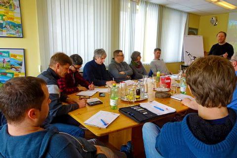 Workshop of the Eurobike staff