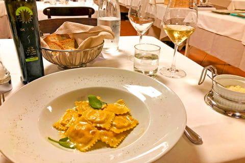 Plate of Italian ravioli