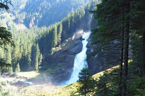 Blick auf Krimmler Wasserfälle