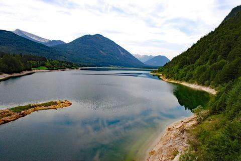 Toller Blick auf den Sylvensteinsee