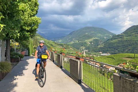 Radfahrer in Südtirol
