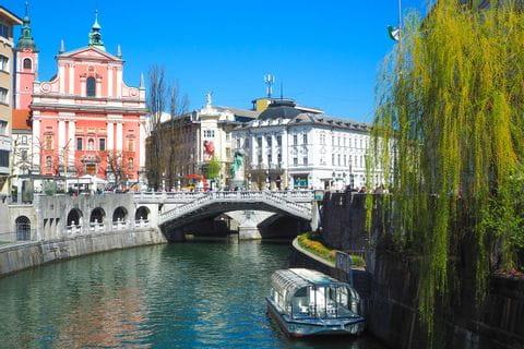 Ljubljana Fluss Ljubljanica