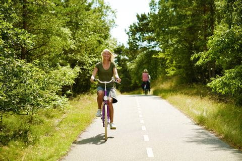 Cyclists on the cycle path