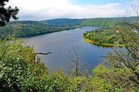 River landscape Moldau