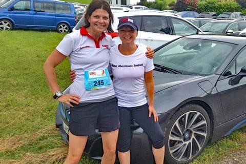 Claudia mit Sabine von Eurobike nach dem Grabenseelauf
