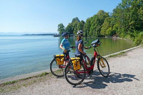 Radfahrer am Starnberger See