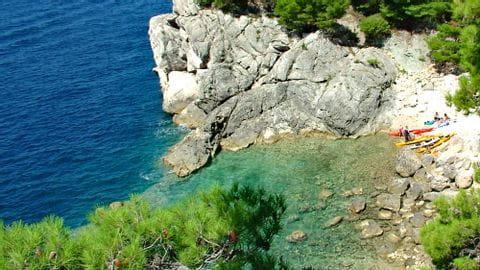 Blick auf die Küste in Dalmatien