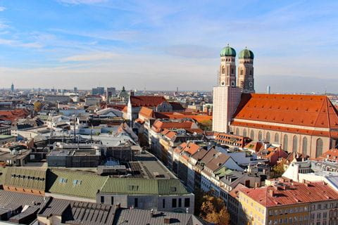 View to the Frauenkirche in Munich