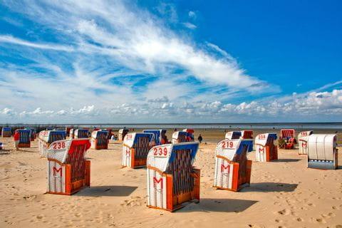 Strandkörbe an der Ostsee in Cuxhaven