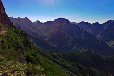 Ausblick auf das Gebirge von Madeira