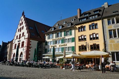 Restaurants at Münsterplatz in Freiburg
