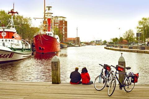 Radpause in Emden Hafen