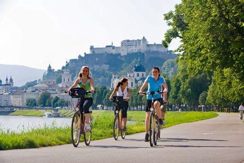 Radfahrer in Salzburg