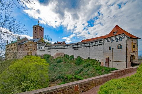 Wartburg castle in Eisenach