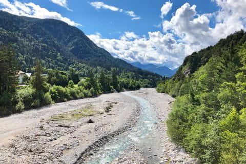 Flussbett an der Drau