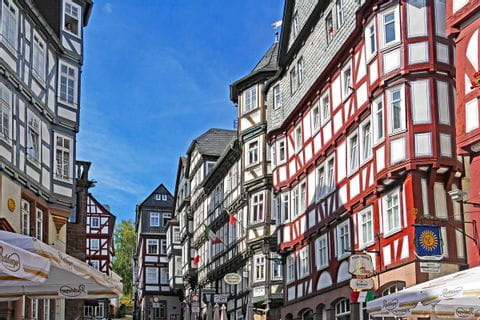 half-timbered houses in Marburg