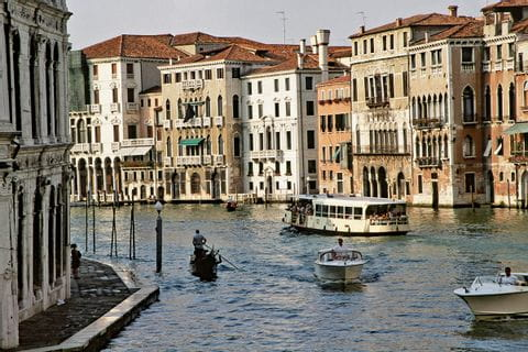 View into a channel in Venice