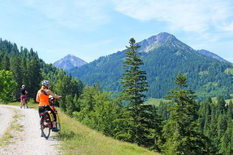 Bike tour through the alpine valleys in the beautiful Allgäu