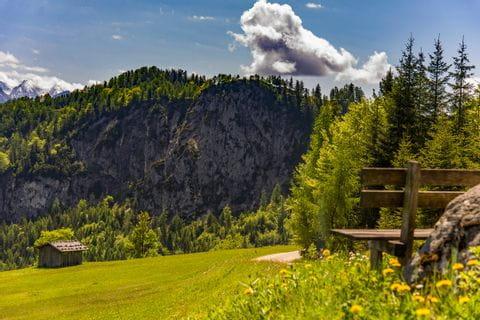 Ausblick auf die Berge vom Salzburger Saalachtal