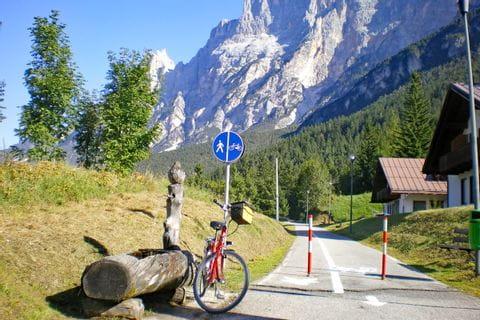 Fahrrad in den Alpen