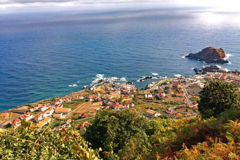 View on Porto Moniz and the lava-pools
