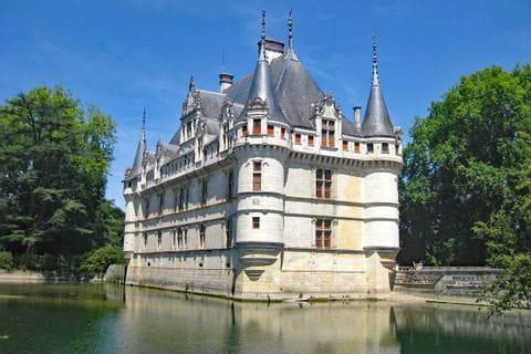 Blick auf das Schloss Azay-le-Rideau