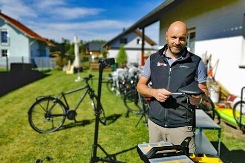 Eurobike Radtechniker David Garbini