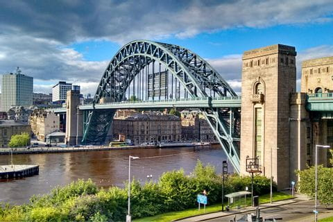View on the Tyne Bridge