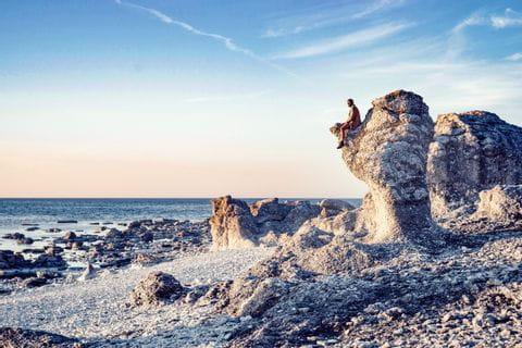 Raukgebiet auf Gotland