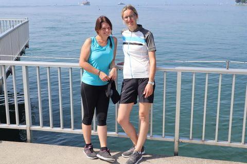 Sabine und Susanne am Bodensee