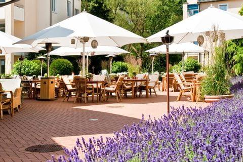 Terrase of Hotel Vila Vita Rosengarten