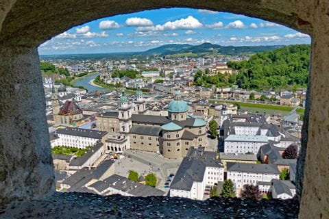 View over the historic centre of Salzburg