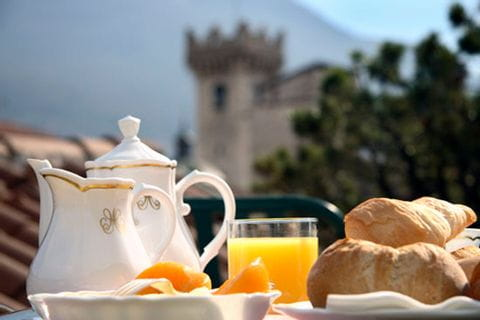 Breakfast with croissants in the Hotel Accademia in Trento