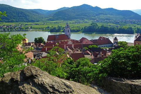 Blick auf Dürnstein in der Wachau