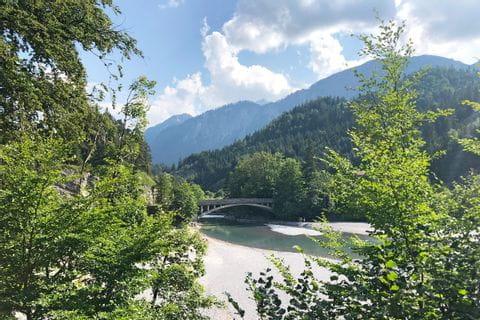 Flussbett im Allgäu