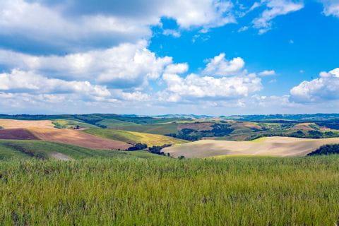 Blick auf die wunderschöne Toskana