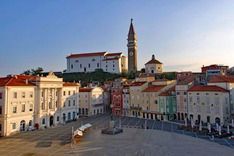 Town center of Piran