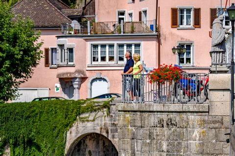 Radfahrer in Laufenburg