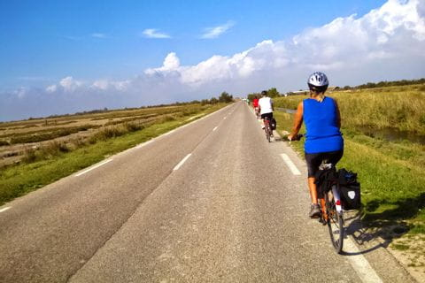 Cycling in the provinces Provence and Camargue