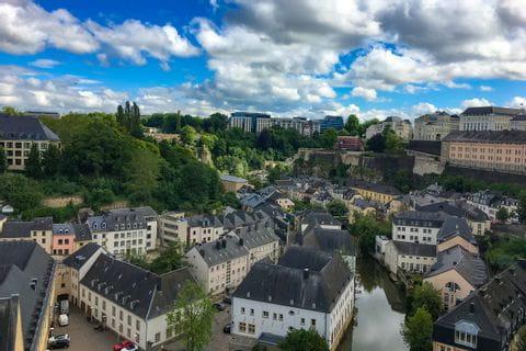 Ausblick auf Luxemburg