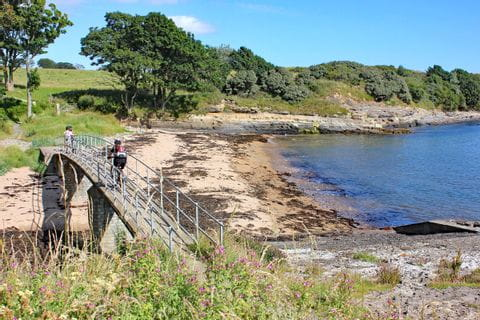 riding the bike along the coast