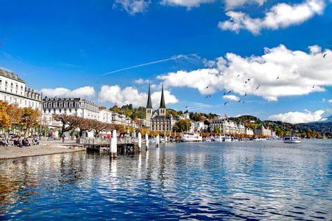 See mit Blick auf Luzern