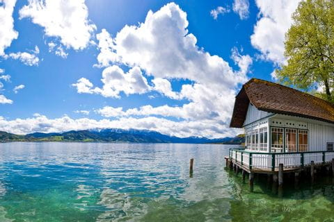 House on the lake Attersee