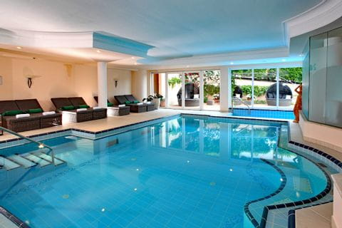 Indoor pool at Hotel Pienzenau in Merano