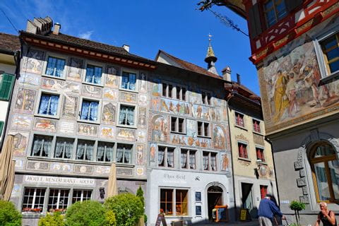 Historic market square in Stein am Rhein