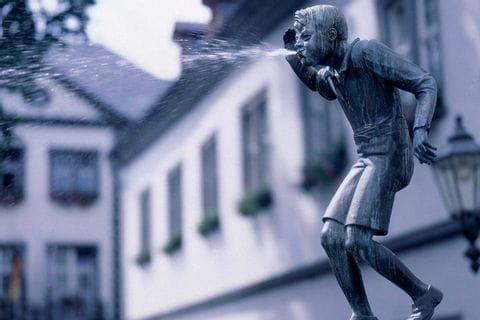 Fountain Schängelbrunnen in Koblenz