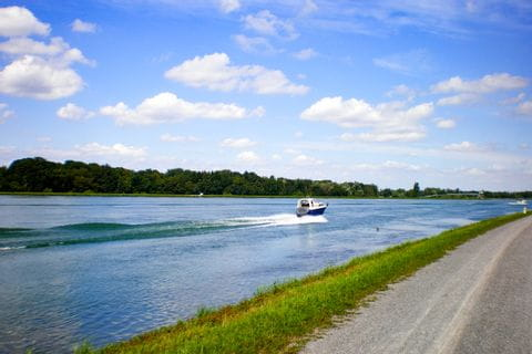 Radweg entlang des Rheins