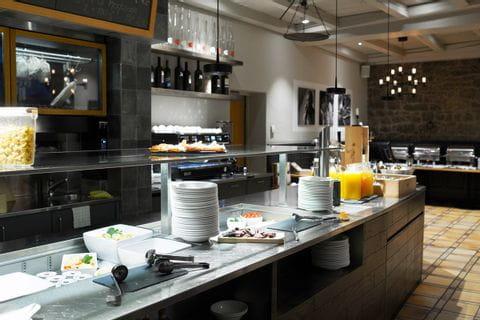 Frühstücksbuffet im Hotel Continental